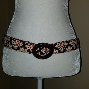 CUTE VERA BRADLEY BROWN & ORANGE ADJUSTABLE BELT